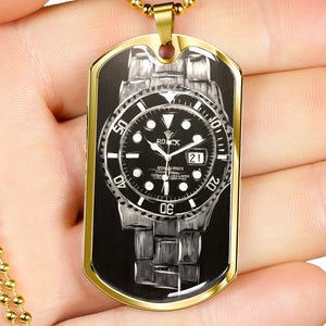 Rolex Submariner dog tag necklace