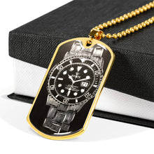 Load image into Gallery viewer, Rolex Submariner dog tag necklace