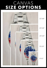 Load image into Gallery viewer, Red White and Blue Rolex Canvas Print
