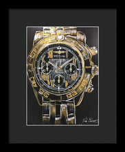 Load image into Gallery viewer, Breitling -chronometre Gold Watch - Framed Print