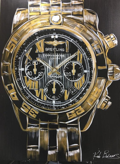 Breitling -chronometre Gold Watch - Art Print