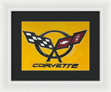 Load image into Gallery viewer, Corvette Logo - Framed Print