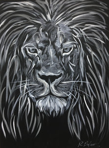 Deep Wisdom II, Lion Original Painting