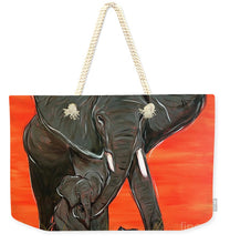 Load image into Gallery viewer, Elephant Matriarch - Weekender Tote Bag