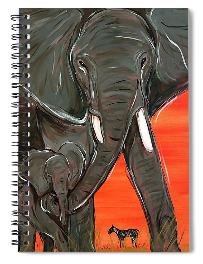 Elephant Matriarch - Spiral Notebook