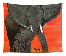 Load image into Gallery viewer, Elephant Matriarch - Tapestry