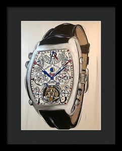 Franck Mueller Watch With Leather Band - Framed Print