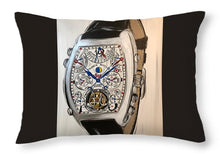 Load image into Gallery viewer, Fm Watch With Leather Band - Throw Pillow