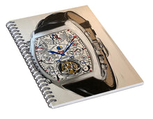 Load image into Gallery viewer, Fm Watch With Leather Band - Spiral Notebook