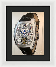 Load image into Gallery viewer, Franck Mueller Watch With Leather Band - Framed Print