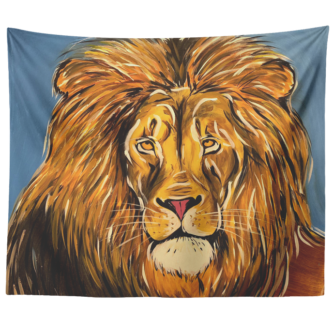 Relaxed Lion Tapestry