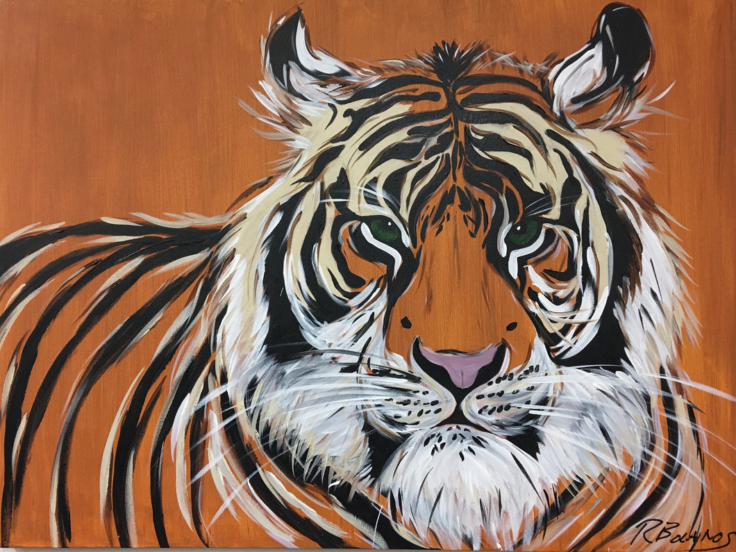 Tiger Stripes Original Painting