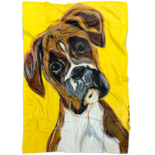 Load image into Gallery viewer, Boxer Cozy Fleece Blanket