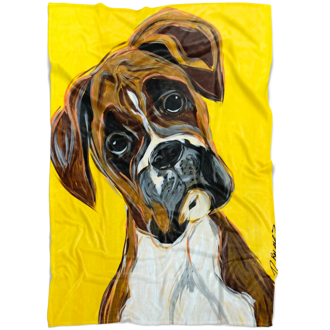 Boxer Cozy Fleece Blanket