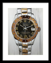 Load image into Gallery viewer, Rolex Rose Gold Lady - Framed Print