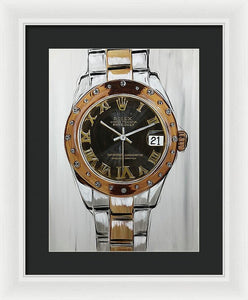 Rolex Rose Gold Lady - Framed Print