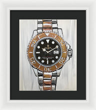 Load image into Gallery viewer, Gold Yacht Master - Framed Print