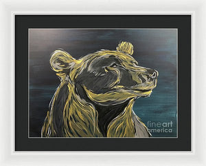 Golden Bear - Framed Print