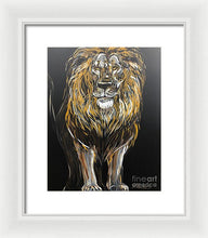 Load image into Gallery viewer, Golden Lion - Framed Print
