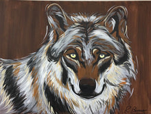 Load image into Gallery viewer, Lone Wolf Original Painting