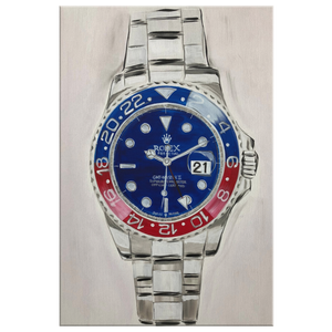 Red White and Blue Rolex Canvas Print