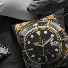 Load image into Gallery viewer, Gold Rolex Submariner Pillow