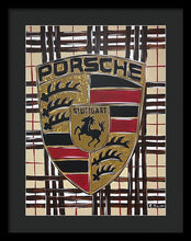 Load image into Gallery viewer, Porsche Burberry - Framed Print