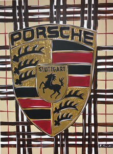 Porsche Burberry Original Painting