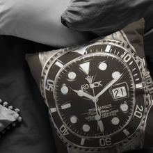 Load image into Gallery viewer, Silver Rolex Submariner Pillow