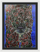 Load image into Gallery viewer, Rose Panther - Framed Print