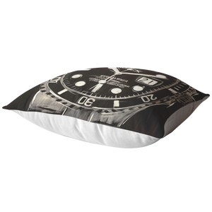Silver Rolex Submariner Pillow
