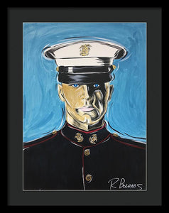 Usmc, A Good Man - Framed Print