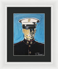 Load image into Gallery viewer, Usmc, A Good Man - Framed Print
