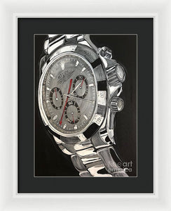 Rolex White Gold Daytona - Framed Print