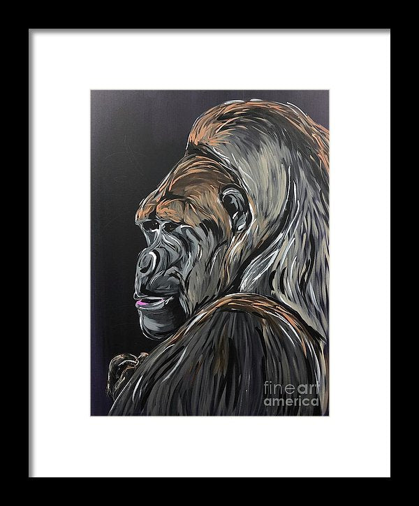 Wise Gorilla - Framed Print