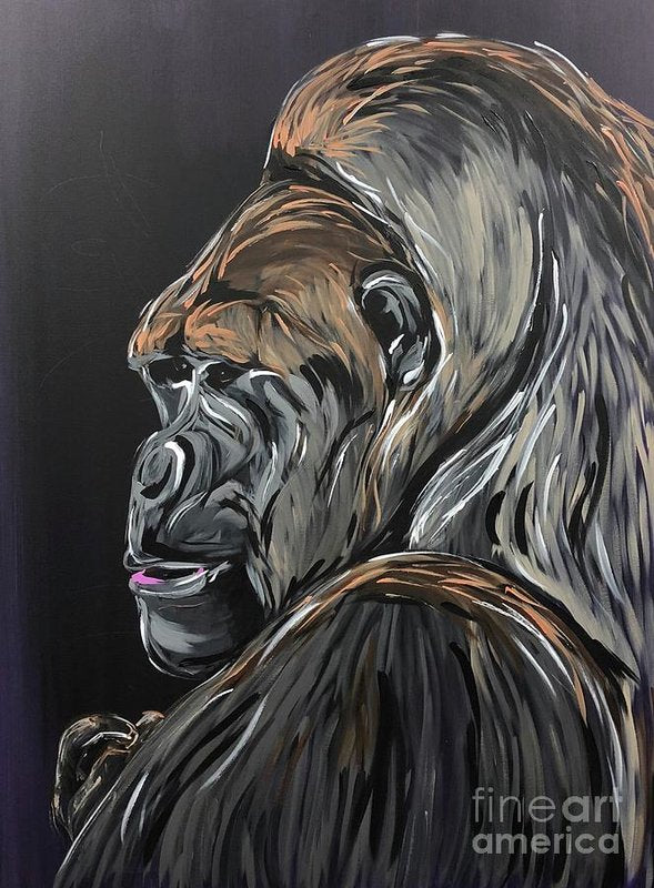 Wise Gorilla - Art Print