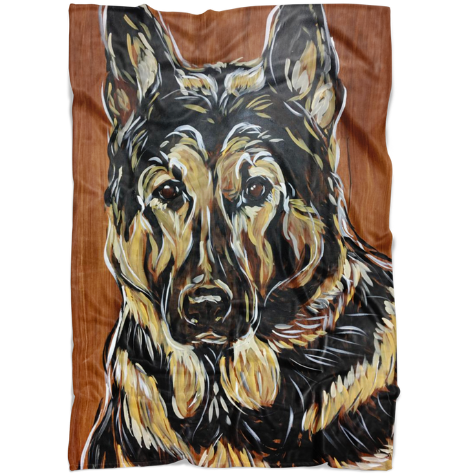 German Shepherd Blanket