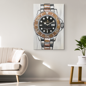 Gold Rolex Canvas Prints