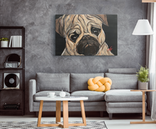 Load image into Gallery viewer, Pug Rectangle Canvas wrap
