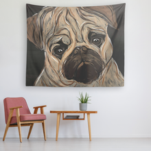 Load image into Gallery viewer, Pug face tapestry