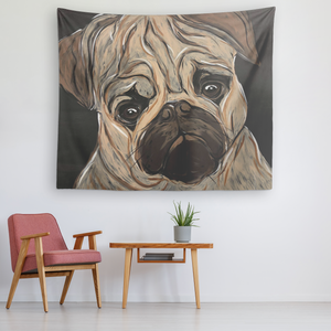 Pug face tapestry