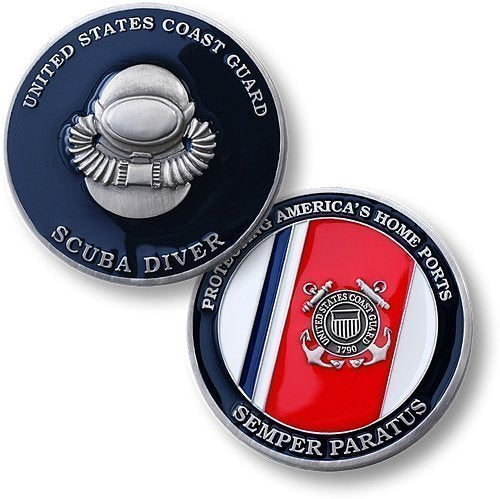 Coast Guard Coin: Scuba Diver