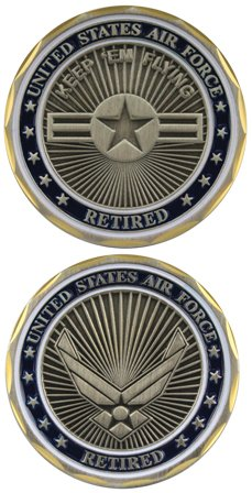 Air Force Coin: Retired (Pewter Coin)