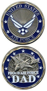Air Force Coin: Proud Dad