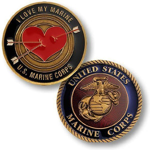 "Marines Coin: ""I Love My Marine"""