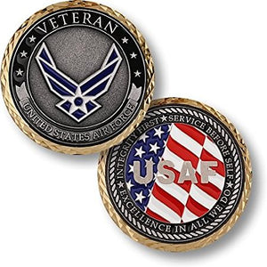 Air Force Coin: Veteran