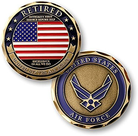 Air Force Coin: Retired