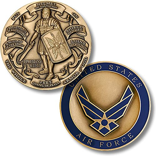 Air Force Coin: Armor Of God High Relief
