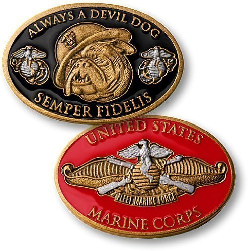 Marines Coin: Always A Devil Dog