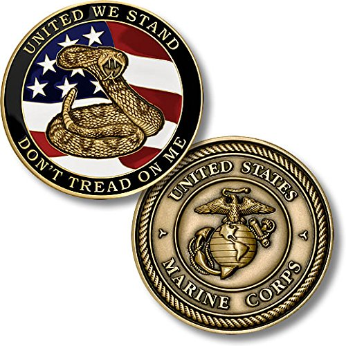 Marines Coin: Don't Tread on Me